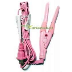 "De Fabulous UBe Straight & Curl Mini Plate Flat Iron, Pink 1/2"" Width"