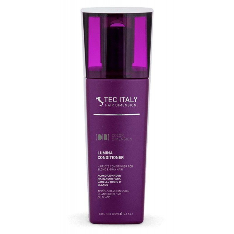 Tec Italy Color Care Lumina Hair Dye Conditioner for blond & gray hair 10.1 oz